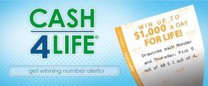 Meedoen aan Cash4Life loterij
