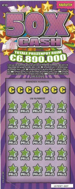 50x Cash Kraslot